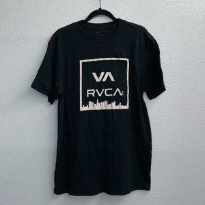 RVCA T-shirt, black with RVCA signature logo, Lrge